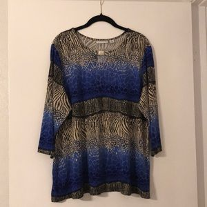 Susan Graver NEW Printed Top Size XL!